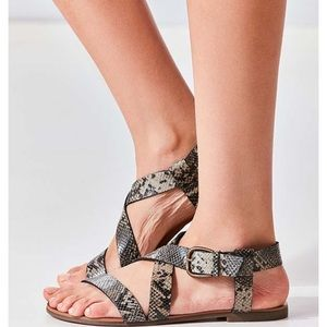 Urban Outfitters 'Maddie' Faux Python Sandals