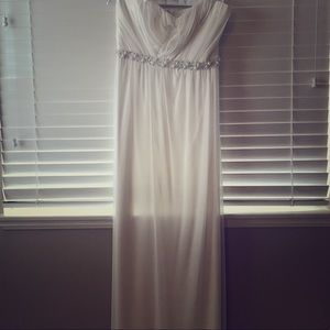 Long white Formal Dress