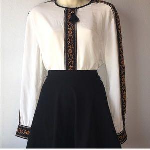 1980s tassel blouse