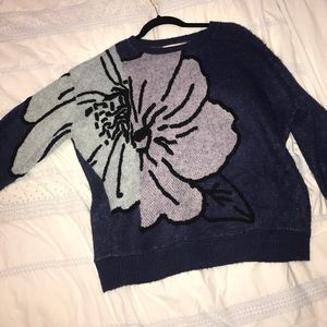 Fun anthro sweater with flower