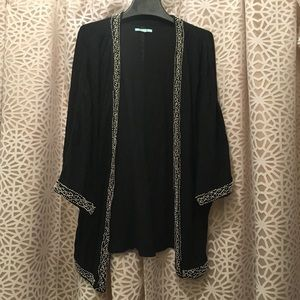 Anthropologie beaded kimono cardigan