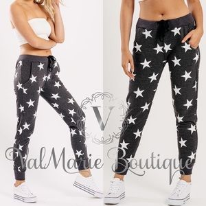 Charcoal Star Lounge Joggers