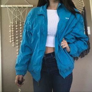 Vintage head blue bomber jacket