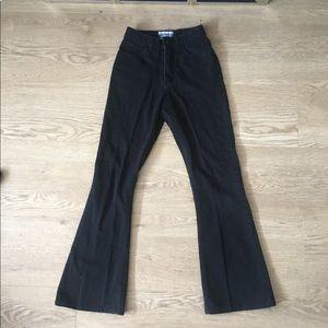 Denim - Tiny Highwaisted crop flare jeans