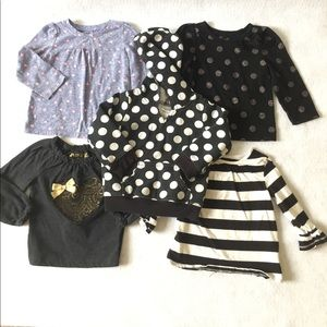 Lot of 5 assorted pieces long sleeve shirts hoodie