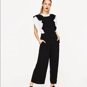 Zara Cropped Strappy Jumpsuit
