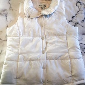Women's small white down vest