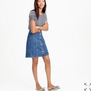 JCrew Button Front Denim Skirt