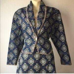 1980s southwestern blazer & skirt set