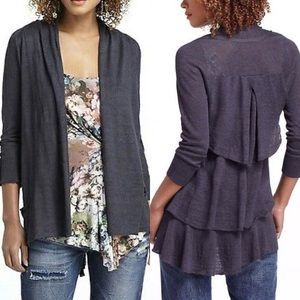 Anthropologie Angel of the North Ruffle Cardigan