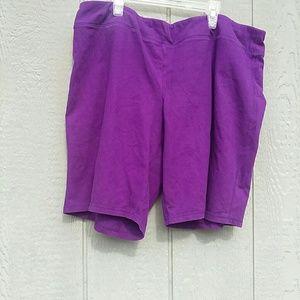 Pants - Purple 2x shorts soft fabric