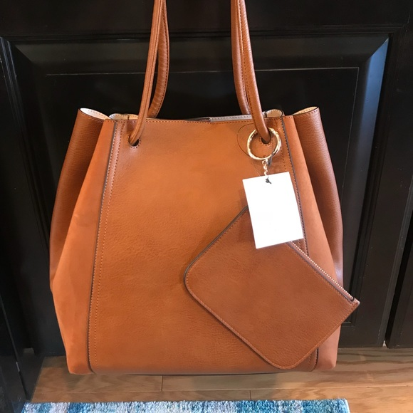 LC Lauren Conrad Unlined Drawstring Tote w  Pouch 32be7d5954401