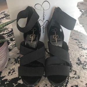 Jessica Simpson Tookie shoes in black patent