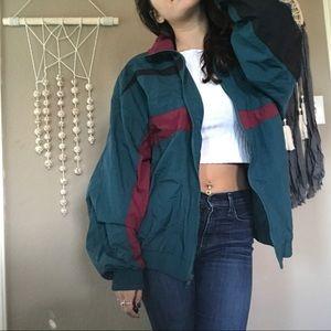 Vintage izod bomber jacket