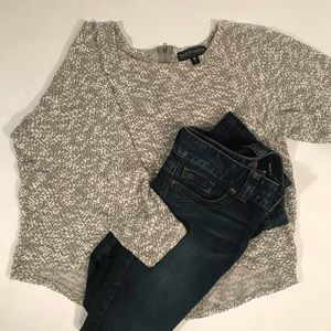 NWOT Almost Famous Lightweight Sweater Zip Top 'L'