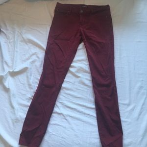 Maroon stretchy jeans/jeggings
