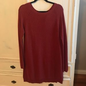 Anthro sweater dress tunic by moth rust color