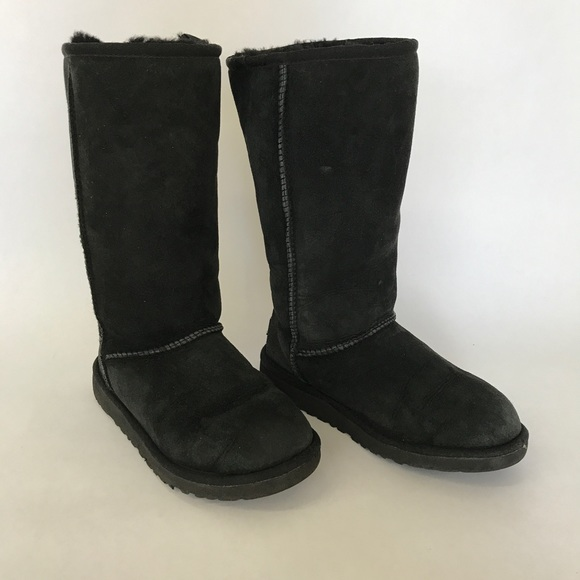 UGG Black Tall Boots Big Kids Size 3