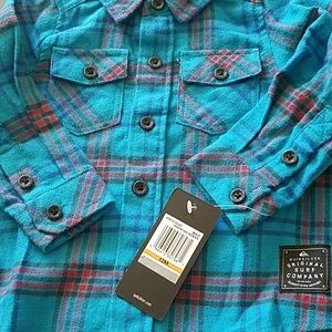 New With Tags, Quiksilver™ Baby Everyday Flannel L