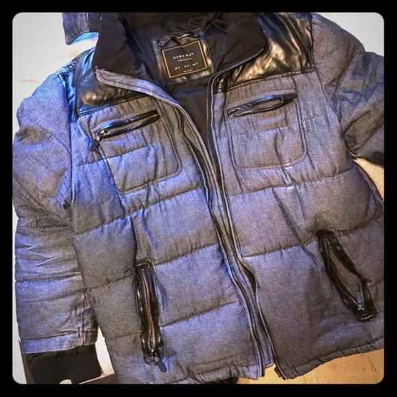 790be4fd Zara Jackets & Coats   Mens Denim Collection Winter Coat   Poshmark