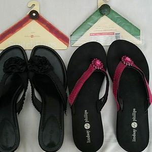 Lindsay Philips Bundle 2 Sandals & 4 Switch Flops