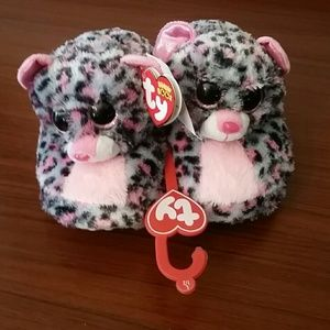 *NWT* Little Girls TY Beanie Animal Slippers