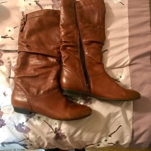 Brown leather knee high boots size 8.5