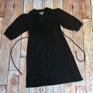 Speechless black ruffle front dress