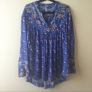 Free People 'wildflowers' tunic size m