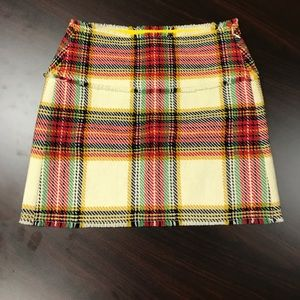 J crew size size 6 plaid skirt