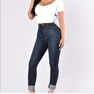 Fashion Nova High Waist Skinny Denim Jeans!
