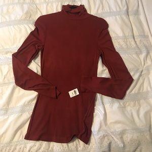 Anthro turtleneck thin long sleeve shirt