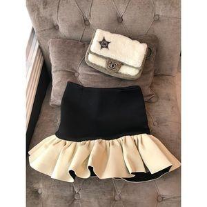 Space cotton fabric cute ruffle Skirt Size S