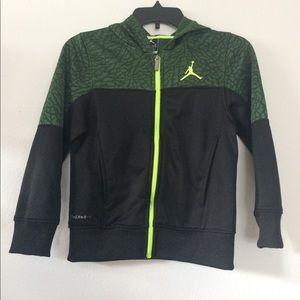 Air Jordan green sweater