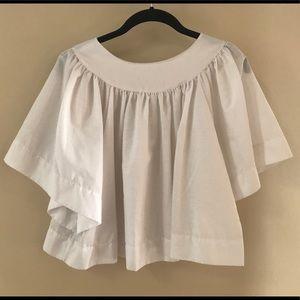 Vintage White Cotton Flowy Top