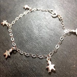 Fashion Jewelry Swarovski Crystal & .925 Sterling Silver Bead Ankle Bracelet 9 To 11 Inches Always Buy Good