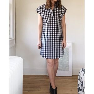J. Crew short-sleeve shirtdress in gingham