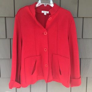 Coldwater Creek boiled wool jacket size M