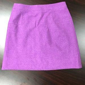 J Crew purple wool skirt size 6