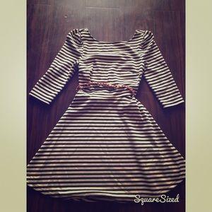 Striped Gianni Bini dress with belt
