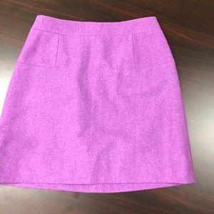 J Crew purple wool skirt size 4