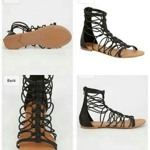 Bungee  Strappy gladiator womens sandal