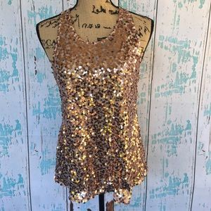 Intimately Free People rose gold sequin tank
