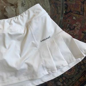 Tennis Head x-small white golf or tennis  skirt