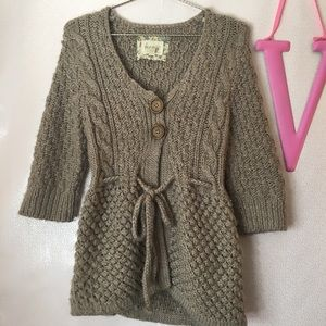 Anthropologie Kenji Hand knit cardigan sweater M