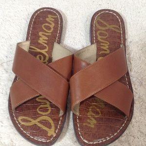 Sam Edelman brown flat sandals