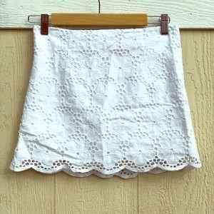 Lilly Pulitzer Tate Scalloped Mini Skirt sz 2