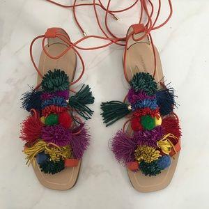 Zara Pom Pom sandals / gladiator / size 36