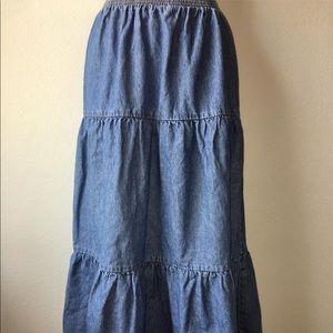 1990s denim skirt