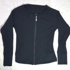 Lululemon Black Court side Zip Jacket Cardigan